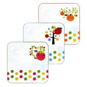 Set 3 khăn tay hình vuông hình trái cây
