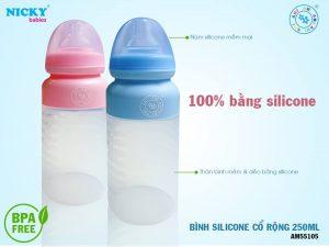 Bình sữa cổ rộng khác gì so với bình sữa cổ tiêu chuẩn