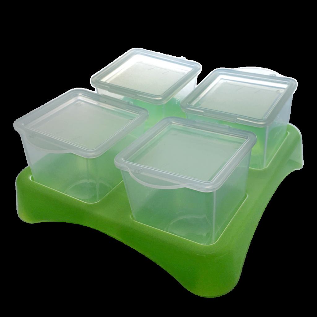 Bộ 4 hộp đựng đồ ăn dặm AMI
