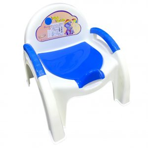 Ghế tựa bô vệ sinh có bệ cho bé.